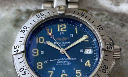 Breitling Superocean Automatic Men's Blue Dial 1000m 41mm Steel A17040