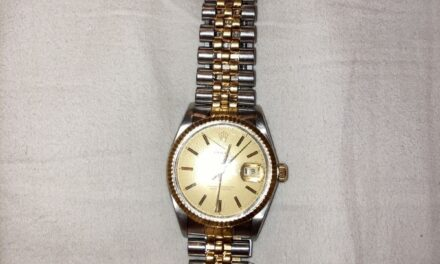 Rolex Datejust 16013 Tapestry Dial 18K Yellow Gold Stainless Jubilee Bracelet