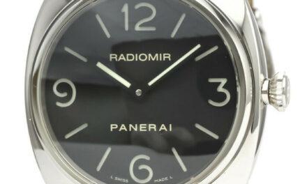 Polished PANERAI Radiomir Base Steel Hand-Winding Mens Watch PAM00210 BF532539
