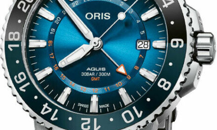 NEW ORIS 01 798 7754 4185-Set MB Aquis GMT CARYSFORT REEF Limited Edition Watch