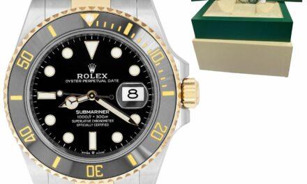 2021 Rolex Submariner Date 41mm Ceramic Two-Tone Gold Black Watch 126613 LN