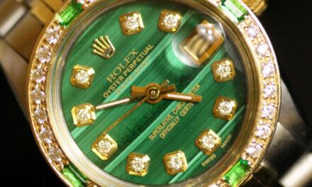 Ladies Rolex Oyster Perpetual Datejust Malachite Diamond Dial Bezel