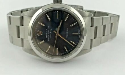 Rolex Air-King Precision Stainless Steel Blue Dial 34mm Automatic Watch 14000