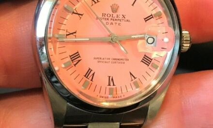 ROLEX DATE 34MM QUICKSET COTTON CANDY PINK DIAL OYSTER BAND 15000