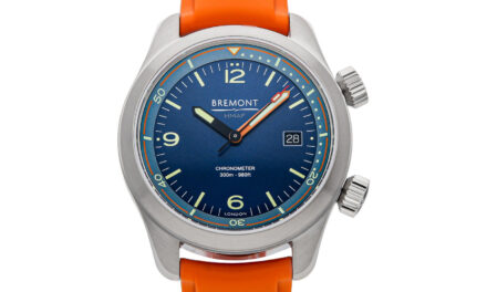 Bremont Argonaut Auto 42mm Steel Mens Strap Date Watch ARGONAUT-BL-R-S