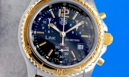 Men's Tag Heuer Link 18K Gold & SS Chronograph Watch – Black Dial – CT1152