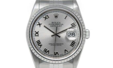Rolex Men's Datejust 36 16220 Wristwatch – Silver Roman, Jubilee