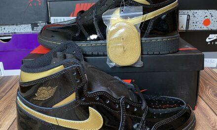DS Nike Air Jordan 1 High GS Black Metallic Gold – Size 4.5Y