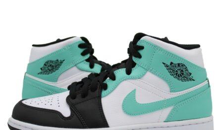 Nike Air Jordan 1 Mid Igloo Tropical Twist 554724-132 Men's GS Teal White New