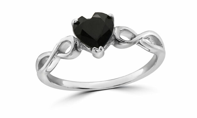 LeVian 925 Sterling Silver Black Sapphire Gemstone Solitaire Cocktail Ring