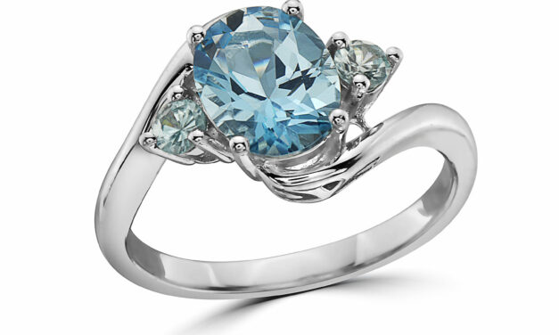 LeVian 925 Sterling Silver Blue Topaz Zircon Gemstone Beautiful Cocktail Ring