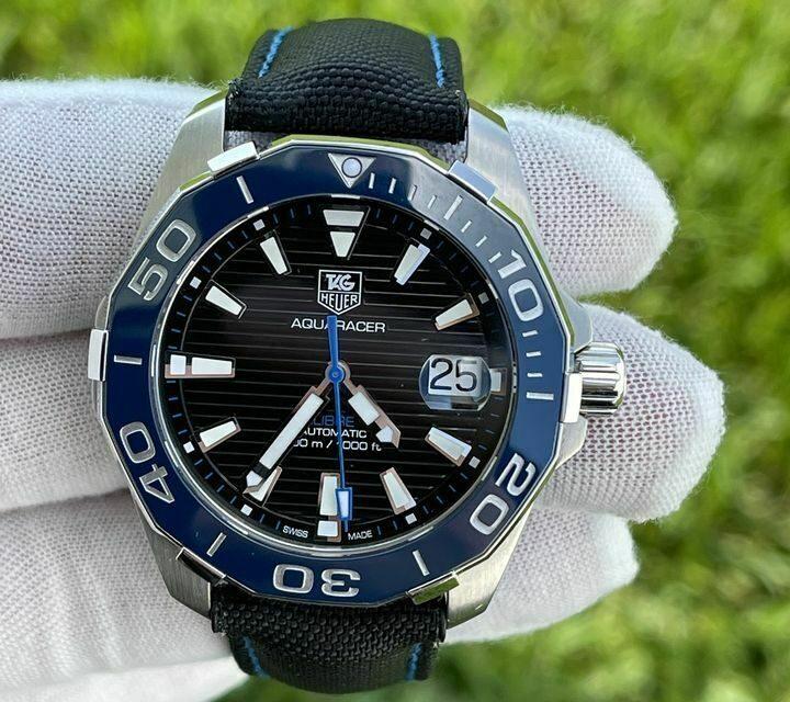 Tag Heuer Aquaracer Fill Kit Blue Stitching Band Automatic Men's Wristwatch