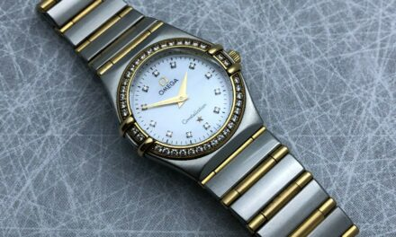 Omega Constellation Two Tone Ladies Watch 18K Diamond Bezel & Markers MOP Dial!