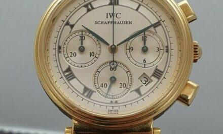 IWC Da Vinci Quartz Chronograph 18K Yellow Gold 32mm Women's date 3739