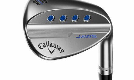 LEFT HANDED CALLAWAY JAWS MD5 CHROME SAND WEDGE 56°-10° (BOUNCE) S GRIND STEEL S