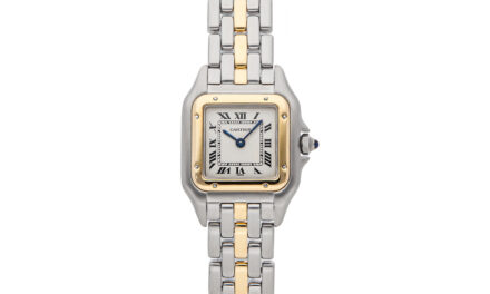 Cartier Panthere Quartz 21mm Steel Yellow Gold Ladies Bracelet Watch 84083245