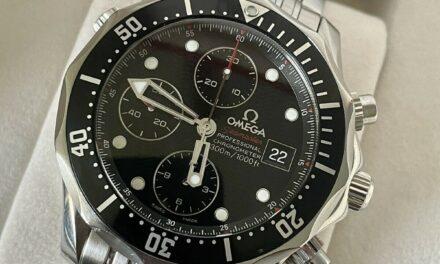 OMEGA Seamaster Chronograph Diver Men's Black Watch 213.30.42.40.01.001 BOX CARD