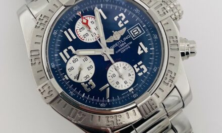 Breitling Avenger II 2 Blue Dial Automatic Chronograph 43mm Box/Papers A13381