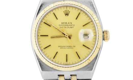 1983 Rolex Oysterquartz DateJust Two-Tone Gold Stainless Integral Watch 17013
