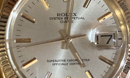 Men's Rolex 14K Yellow Gold Oyster Perpetual Date, 14K Solid Jubilee Band, 1979