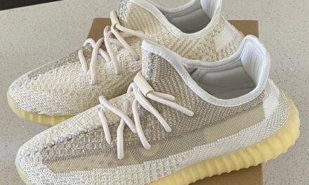 Men's US Size 8.5 adidas Originals Yeezy Boost 350 V2 Shoes 'Natural' FZ5246 NEW