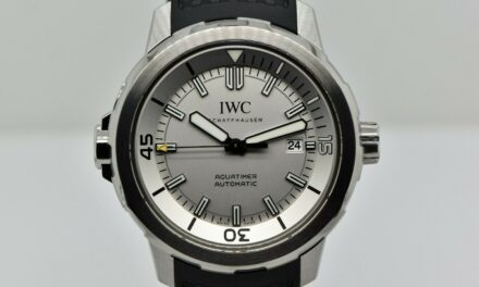 2015 Men's IWC Aquatimer 42mm Silver Dial Stainless Steel IW329004 Watch