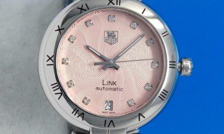 Ladies Tag Heuer Link Watch – Pink DIAMOND Dial – Automatic – WAT2313