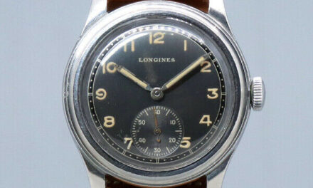 1940s LONGINES Analog Watch Manual Cal.23M Black Two-Tone Dial 31mm