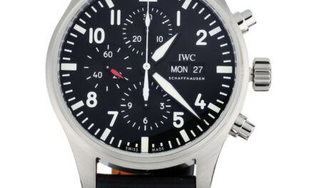 IWC PILOT'S WATCH CHRONOGRAPH IW377709 STAINLESS STEEL 43MM AUTOMATIC FULL SET