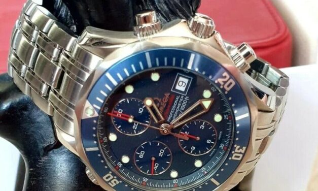 OMEGA Diver 300M Chronograph Blue Men's Watch – 2225.80.00