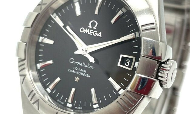 OMEGA 123.10.35.20.01.001 Date Constellation Coaxial Automatic Wristwatch