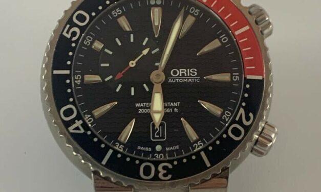 Ultra Rare Beautiful Oris Carlos Coste, Titanium 2000m Divers, Ltd, Ed Of 2000
