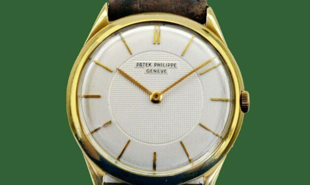 Vintage 1950's PATEK PHILIPPE 18K Gold Men's  Calatrava Style Watch