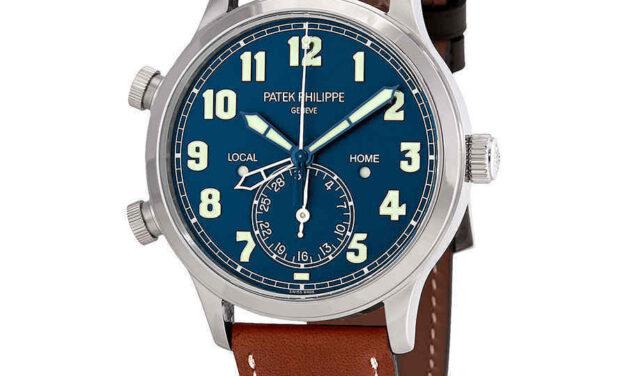 Patek Philippe Calatrava Pilot Travel Time 18kt White Gold Automatic Men's Watch