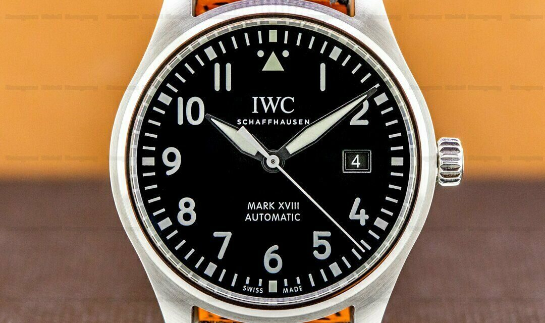 IWC Mark XVIII Black Dial SS BOX + PAPERS