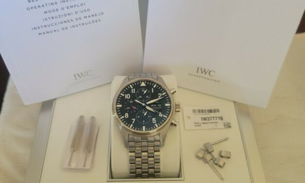 IWC Pilot Day Date Chronograph Watch  IW377710 Steel Automatic Watch Box Papers