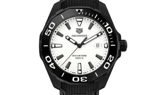 TAG Heuer Aquaracer 300M Nightdiver Titanium Ceramic Watch WAY108A.FT6141 NEW