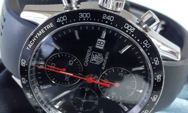 Tag Heuer Carrera Juan Manuel Fangio Calibre 16 Chronograph Steel Watch CV2014-3