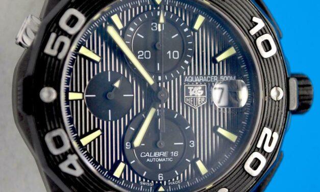 Men's Tag Heuer Aquaracer Titanium & PVD Automatic Chronograph Watch – CAJ2180