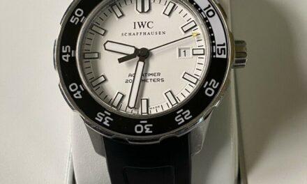 IWC Aqua timer IW356811 Date white Dial Automatic Men's Watch AWSOME!!!
