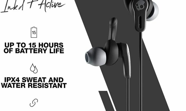 Skullcandy Ink'd+ Active Wireless In-Ear Earbud Black (Certified Refurbished)