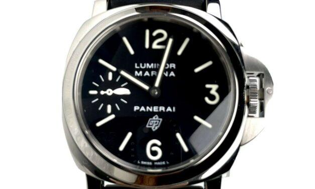 Panerai Luminor Marina Pam00005 005 44mm Steel Black Rubber Strap Papers 2014