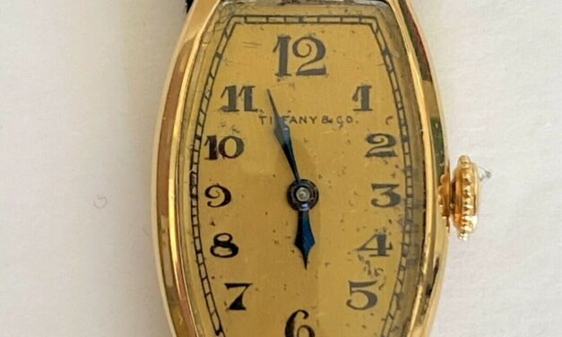 Tiffany & Co 18k Yellow Gold Case & Dial, Signed Longines Movement Women's Watch