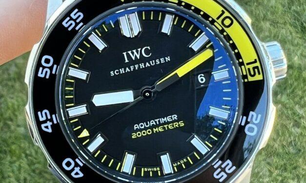 IWC Aquatimer 2000 IW356810 Black Dial Automatic Men's Watch