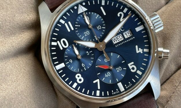 IWC 2021 Release Silver PILOT Watch Chronograph BLUE Dial IW388102 Iw388101