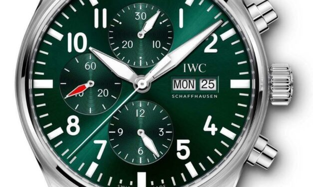 IWC Pilot's Watch Chronograph Limited Edition Racing 43mm Green Dial IW377726