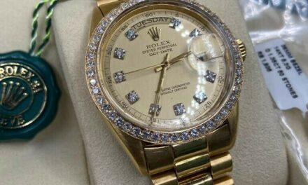 Mens Rolex #1803 Solid 18k Yellow Gold Day Date President Diamond Dial & Bezel