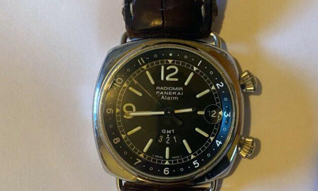 Radiomir Panerai Alarm GMT Watch