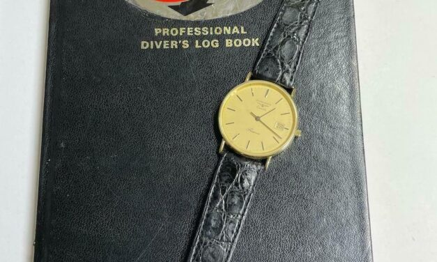 COMEX Issued Longines Presence 10 Yrs Service with Full SAT Dive Log