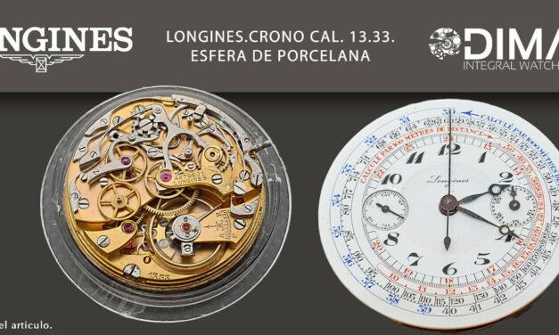 Vintage Original Movementmovimiento/Longines Chrono CAL.13.33. Sphere Porcelain